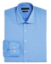 Nwt $225 Bloomingdales Men Slim-Fit Blue Button Long-Sleeve Dress Shirt 15 32/33