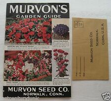 Marvon's  Garden Guide/ Seed Catalog Norwalk, Conn