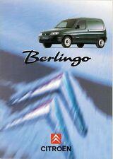 Citroen Berlingo Van 1996-97 UK Market Sales Brochure 1.8D 1.9D 600kg 800kg