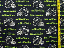 NFL SEATTLE SEAHAWKS  PRINT 100% COTTON FABRIC FAT QUARTER  18X28 INCHES