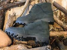 80s TIMBERLAND CHUKKA BOOTS 21005 BLACK SIZE 7 W MENS MADE IN USA