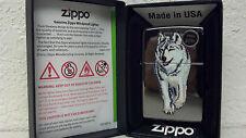 ZIPPO, LIGHTER, WOLF, WHITE WOLF BLACK ICE, MODEL 769