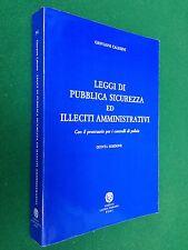 CALESINI - LEGGI DI PUBBLICA SICUREZZA E ILLECITI , Ed L. Robuffo (1995) Polizia
