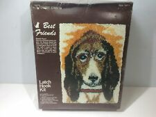 Vogart Bassett Hound Latch Hook Kit New Unopened 18 x 24 With Yarn