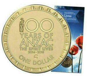 Australia 2016 Counterstamp $1 Coin Map of Australia  UNC Coin on Card PRISTINE