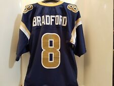 REEBOK NFL ST LOUIS LOS ANGELES LA RAMS Sam Bradford  8 SEWN jersey adult  LARGE 6e5215f8d