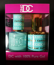 DND DC Soak Off Gel Polish Caribbean Island 032 LED/UV 6oz 18ml Gel Duo Set NEW