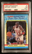 MICHAEL JORDAN 1988-89 Fleer Super Star Sticker  #7 PSA 7 *FREE SHIP & INSURE