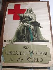 "WW1 POSTER "" THE GREATEST MOTHER IN THE WORLD"""