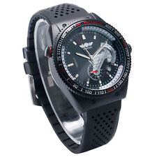 WINNER Date Dial Analog Auto Mechanical Silicone Band Sport Men's Wrist Watch