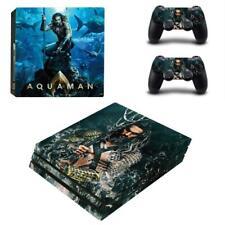Movie Aquaman Comic Super Hero PS4 Pro Consoles Vinyl Skins Decal Stickers Cover