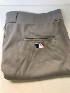 Majestic Baseball Pants, Adults, Gray, Size 2XL