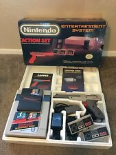 Nintendo NES Action Set Bundle COMPLETE Console System CIB Super Mario ZAPPER