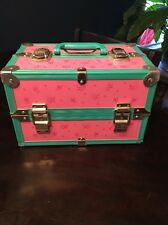 Caboodles Like Makeup Carrying Case Girls Butterflies Hearts Pink Turquoise