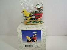 Fitz and Floyd Charming Tails Chickie Chariot Ride mouse in cart Nib