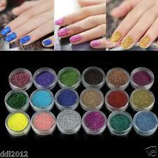 18 Color Nail Art Glitter Powder Dust Decoration kit For Acrylic Tips UV Gel DIY