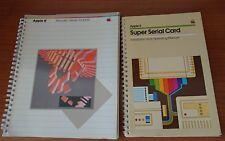Apple II macintosh, 1984 manuale utente ProDOS  in italiano e Super serial card
