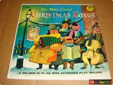 """Golden HI-FI Extended Play 45 """"The Most Loved Christmas Songs"""" • T4130 • 1958"""