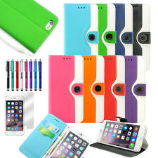 Compatible con iPhone 6 6S 6S Plus De Cuero Con Tapa Estuche tipo Billetera de tarjeta de crédito