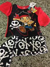 Jake Neverland Pirate Skull Bone Pajamas PJs Boys Toddler 2T Fleece Winter Fall