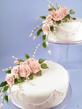 Handgemachtes Zucker Rosen Bouquet in Rosa Zuckerblumen Tortendeko Fondant