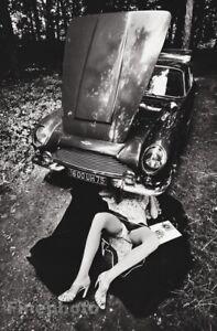 1975 Vintage ASTON MARTIN Semi Nude Female Car Mechanic JEANLOUP SIEFF Photo Art