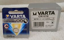 Lot of 10 button batteries CR1216 3V lithium Varta ( Good APRIL - 2025 )