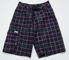 Para Hombre Helly Hansen Shorts de Baño Playa De Verano Azul Marino Comprobado Talla W30 en muy buena condición