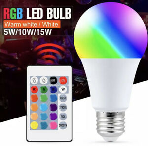 Control Lamp Led RGB Light Dimmable RGBW Led Lamp Colorful Changing Bulb