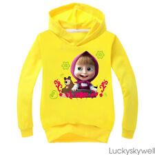 XMAS Gifts Masha and the Bear Boy Girl Kids Casual Sports Hoodie Top Sweat shirt