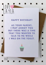 Greetings Card / Birthday / Cheeky / Comedy / Love Layla / Funny / Humour / L02