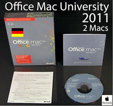 Microsoft Office Mac 2011 University 2 Mac Box + DVD OVP NEU