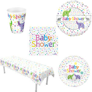 Neutral Baby Shower Tableware Party Supplies Decorations Girl Partyware Balloon