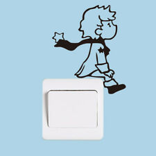 Cute Little Prince Light Switch Home Decor Printed Wall Sticker For Kids Room