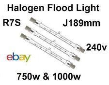 R7 Tungsten Halogen Security Floodlight Tube Bulbs  750watt 1000watt J189mm 240v