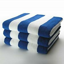 Egyptian Cotton Pool Towels Chlorine Resistant Striped Holiday Beach & Gym Towel