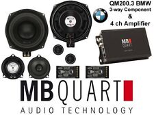 MB Quart ALTOPARLANTI E 4CH AMP PER BMW SPEAKER DRITTO FIIT qm200.3+na1-320.4