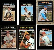 1971 Topps Baseball Singles (100-199) U-Pick VG+