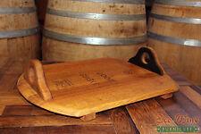 Wine Barrel Serving Tray Oakl Handles.