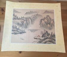 Japanese Aquarelle Painting on Silk Original Masterpiece Master Mark