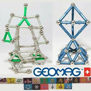 Geomag e Supermag Classic TANTISSIMI Pezzi Costruzioni Magnetiche FLUO con Sfere