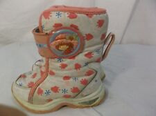 Cute Strawberry Shortcake Pink & White Winter Snow Boots, Sz8 Toddler 100172