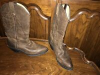 Durango RD4112 Brown Leather Cowboy Western Boots Women's size 7.5M / EU 39
