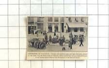 1936 Machine Guns And Field Guns In Gran Via Main Street Valencia Martial Law