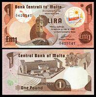 Malta  (BANK CENTRALI TA'MALTA) 1 Lira, 1979, P 34b, UNC