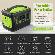 568Wh Solar Generator Portable Power Station Explorer Lithium Battery Outdoors