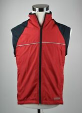 Sugoi Men's Sleeveless Biking Jersey Size Small Full Zip Polyester Red Black
