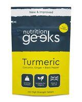 Turmeric Tablets 3200mg + Ginger + Black Pepper | 120 High Strength Capsules