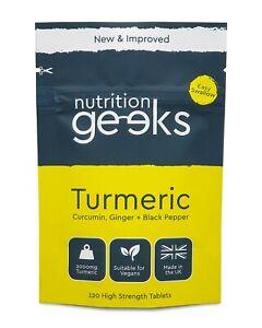 Turmeric Tablets 3200mg + Ginger + Black Pepper | 120 Tablets - UK Supplement