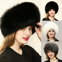casquette chapeau cheveux Hiver Mode Faux Fourrure Ball Bonnet Chaud Hat Cap